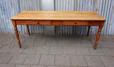 pitch pine, refectory, table, lange, smalle, antieke, tafel, kloostertafel