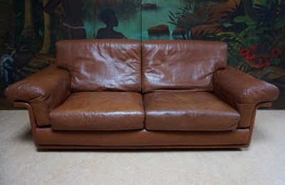 Vintage, De Sede, Leather, Sofa, leren, bank