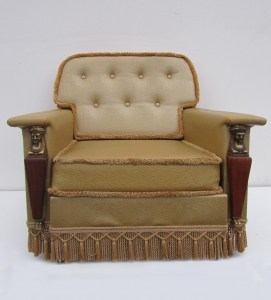 golden, empire, style, chair, fauteuil, armchair, gouden