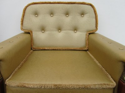 Vintage gold empire style fauteuil, easy chair-00005