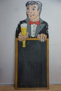 Vintage-bistro-cafe-reclamebord-krijtstoepbord-menubord- bier-advertising-beer-chalkboard for pub-cafe-bar-bistro