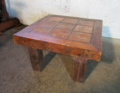 Rustieke Franse tegeltafel, antique French tile table