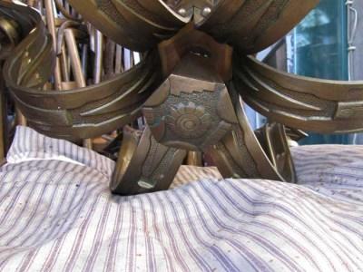 Art Deco Hanglamp : Vintage french art deco bronze chandelier