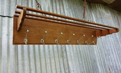 art, deco, wand, kapstok, metalen, haken, houten, wall, coat, rack, wooden, iron, hooks