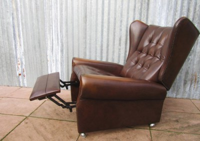 Vintage, Chesterfield, relax, chair, fauteuil, lounge, armstoel, oorfauteuil, relaxfauteuil