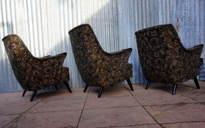 cocktail, fauteuil, club, chairs, vintage, retro, fabric, upholstery
