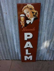 emaille, reclame, bord, Speciale Palm, Steenhuffel
