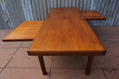 teak, houten, salontafel, Deens, design, vintage, coffee, table, extending