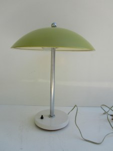 Wim Rietveld Gispen mushroom table lamp yellow 1950