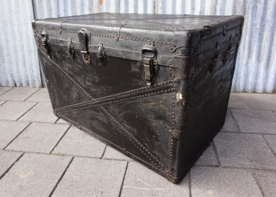industrileele, kist, antique, vintage, industrial, chest, storage