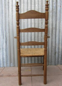 ladder, back, dutch, frisian, chair, arm, Friese,kerfsnede,houtsnijwerk, Nederlandse, volkskunst,Antieke, iepenhouten, armstoel