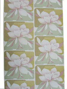 Retro vintage magnolia behang