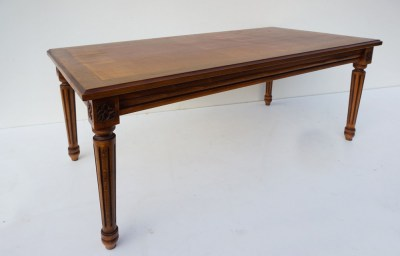 notenhouten, salontafel, jaren 60, Louis XVI, stijl, coffeetable, walnut, French