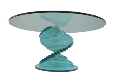 Modern Italiaans design glazen tafel, glass coffee table