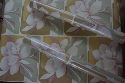 Retro, vintage, magnolia, behang, bloemen, wallpaper, flowers