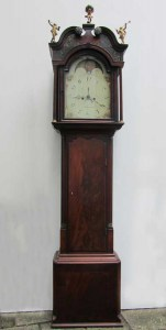 Antieke staande klok, antique grandfathers standing clock