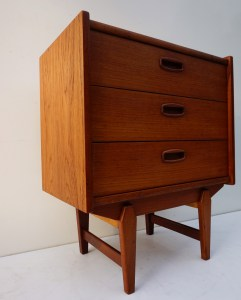 Vintage, teak, houten, ladenkast, commode, chest of drawers