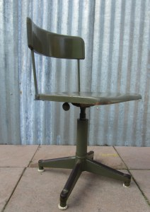 leger, industriele, vintage, bureaustoel, werk, stoel, army, office, chair, adjustable