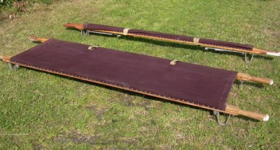 Vintage Industrial Military Folding Campingbed/Daybed/Legerbed/Stretcher