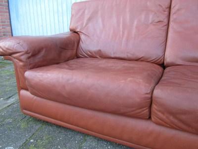 Vintage Leren Bank : Vintage de sede two seater leather sofa canape