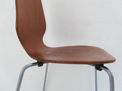 Arne Jacobsen Stoel : Teak bentwood chair danish school in the style of arne jacobsen