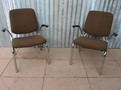 Set van 2 Vintage De Wit fauteuils/ Tubular Easy Chairs