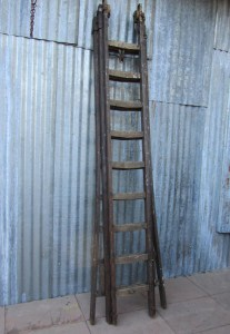 vintage-industrial-wooden-ladder-brocante-industriele-houten-ladder
