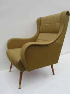 Italiaanse vintage lounge fauteuil/chair