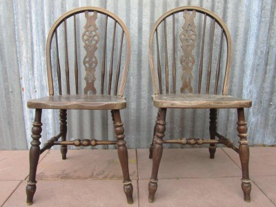 Set van 13 Windsor Ercol Stoelen/Chairs