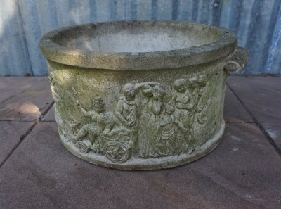 plantenbak, planter, klassiek, Greek, Roman, concrete, compostion, stone, Cybele