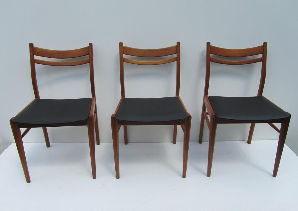 Retro Design Stoelen.Set Van 3 Scandinavische Houten Design Stoelen