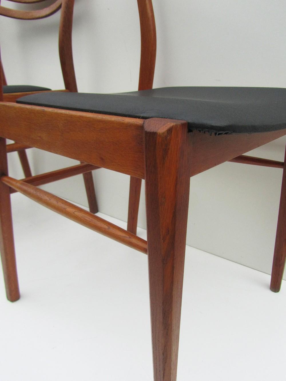 Design Meubelen Jaren 50.Set Van 3 Scandinavische Houten Design Stoelen
