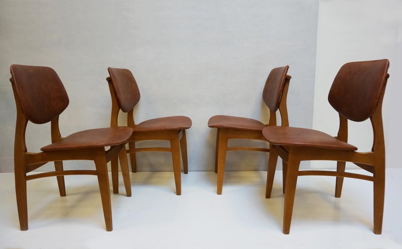 Stoelen Retro Design.Retro Vintage Skai Leatherette Dining Chairs