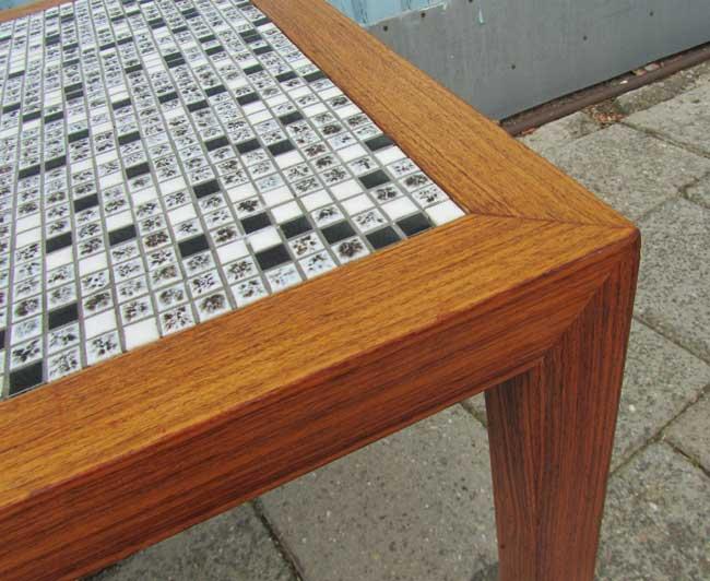 Vintage teak mozaiek salontafel