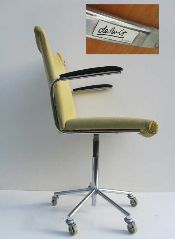 Retro vintage bureaustoel de wit 3314 for Bureaustoel vintage