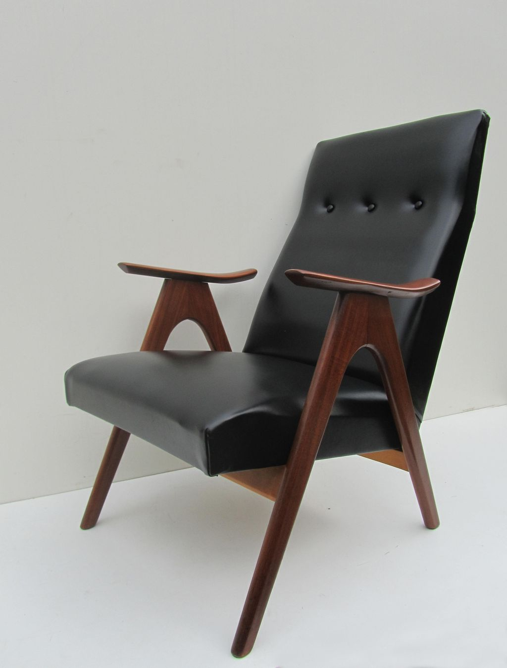 Design Retro Fauteuil.Vintage Teak Easy Chair Lounge Chair
