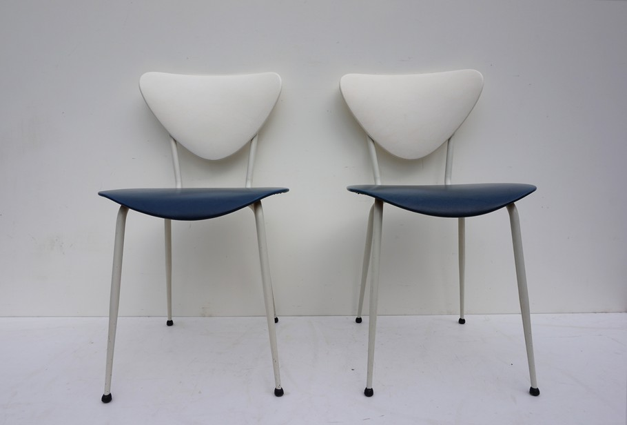 Jaren 50 Stoel : Retro vintage jaren skai stoelen set van