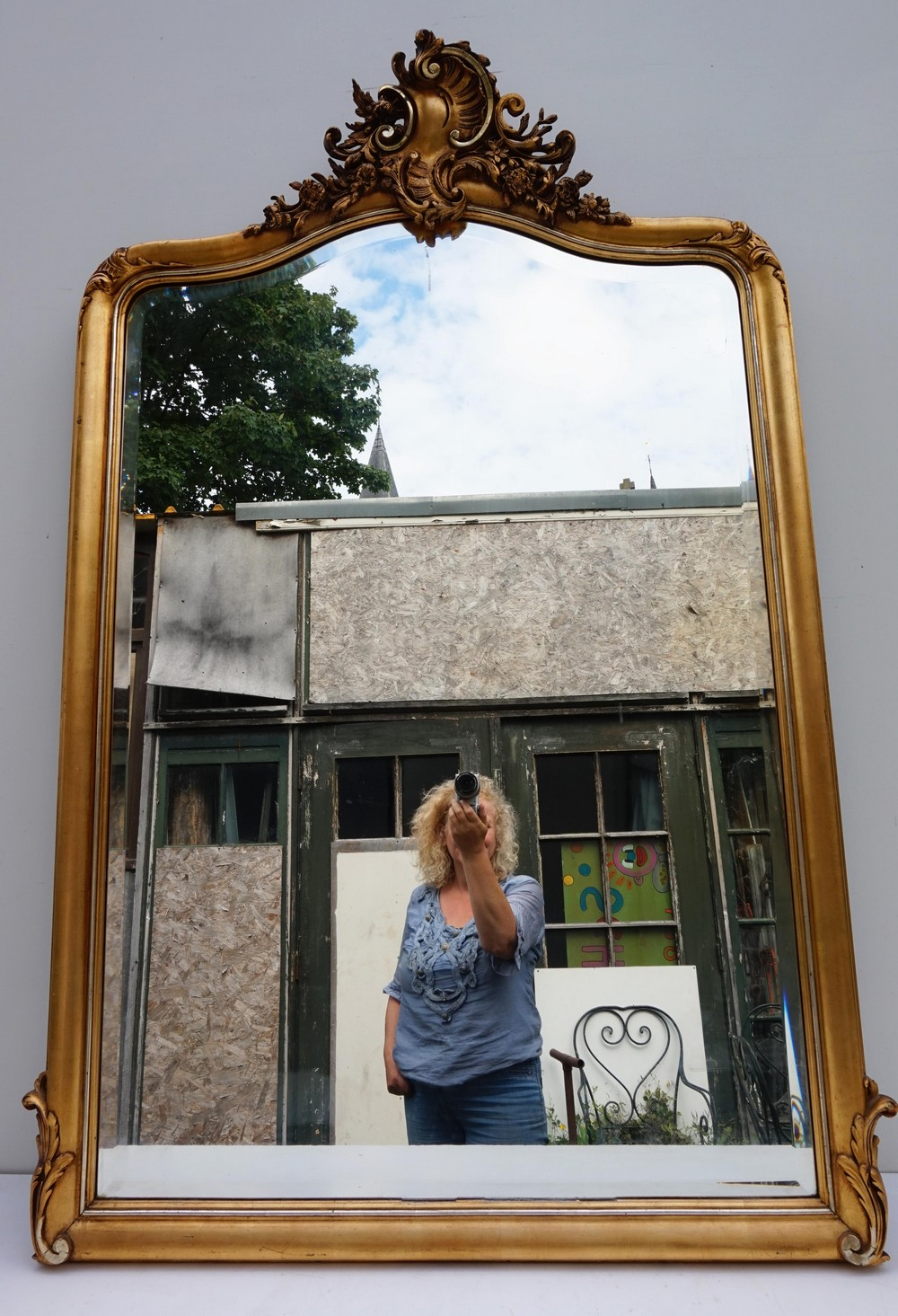 48fa5f7919cc Gilded mirror in the Louis XV-XVI style