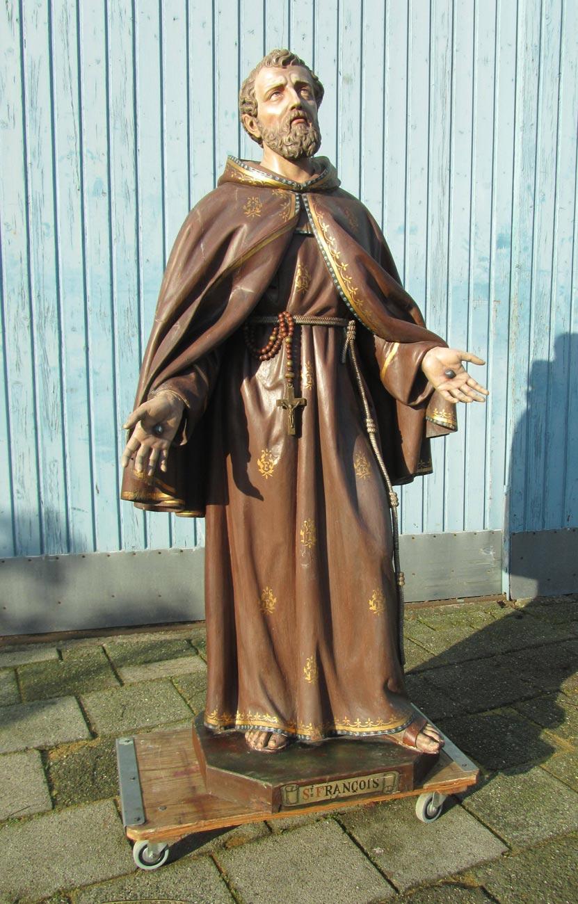 Citaten Franciscus Van Assisi : Groot antiek houten beeld van san franciscus assisi
