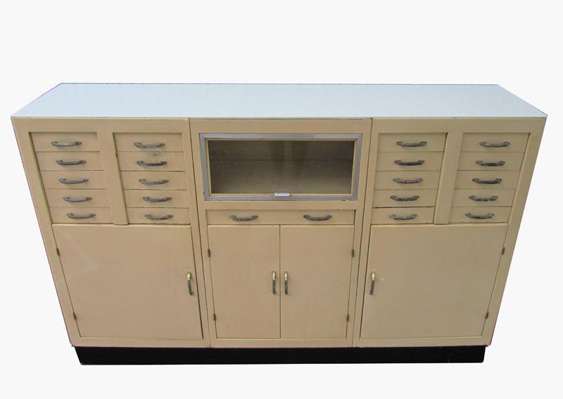 Description. Large Vintage Industrial Doctor's Dental Cabinet ...