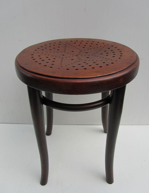 Vintage Thonet Bentwood Hocker Stool