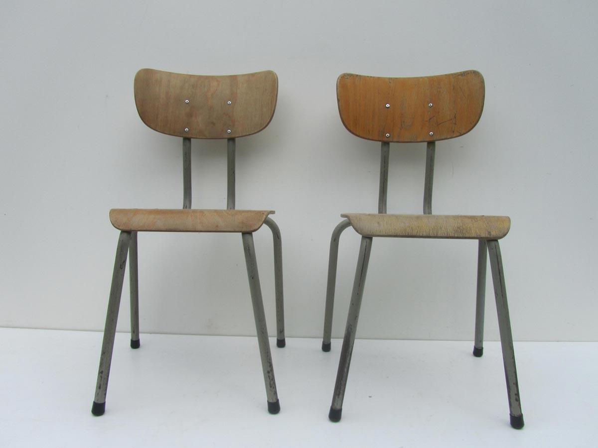 Ongebruikt Vintage Kinderstoel, schoolstoel van het Belgische merk Tubax LX-92