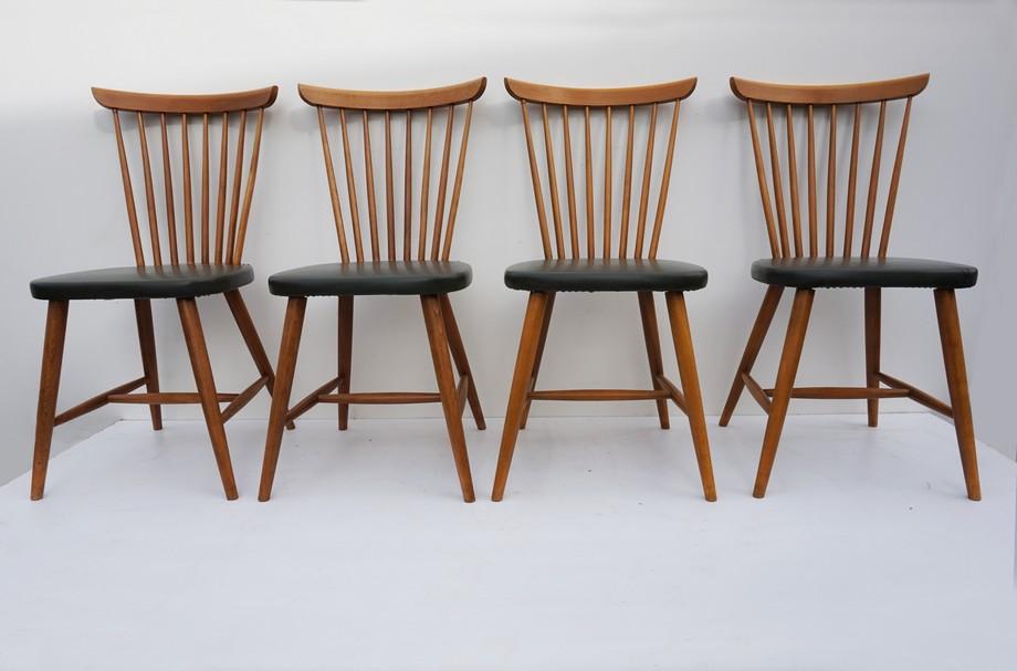 Jaren 50 Stoel : Vintage franse spijlenstoelen bistro stoelen uit de jaren 50 60