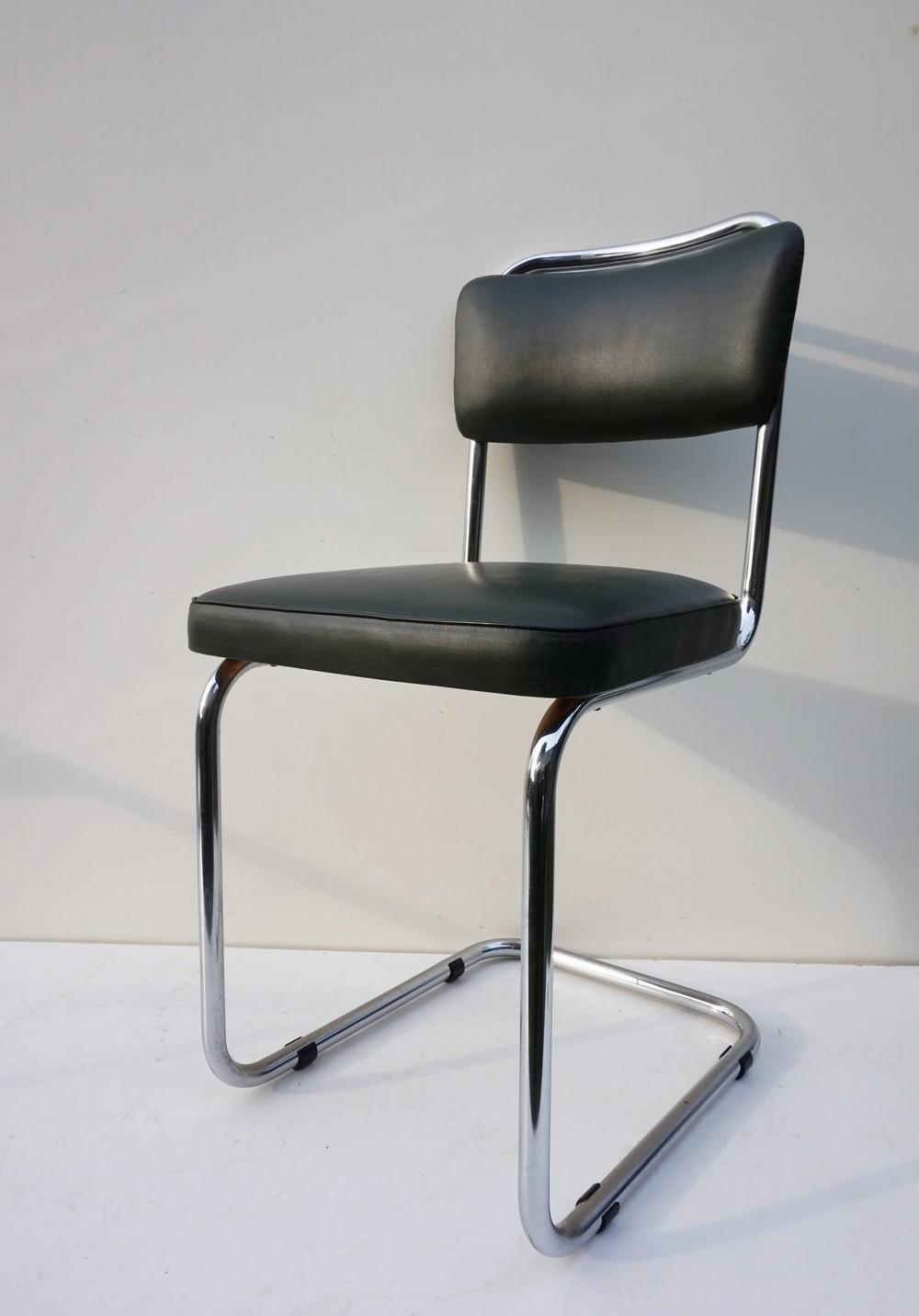 Dutch Tubular Cantilever Office Chair