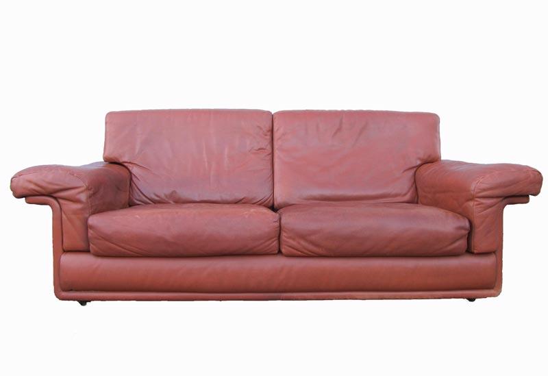Vintage De Sede Twoseater Leather Sofa Canape - Canapé design vintage