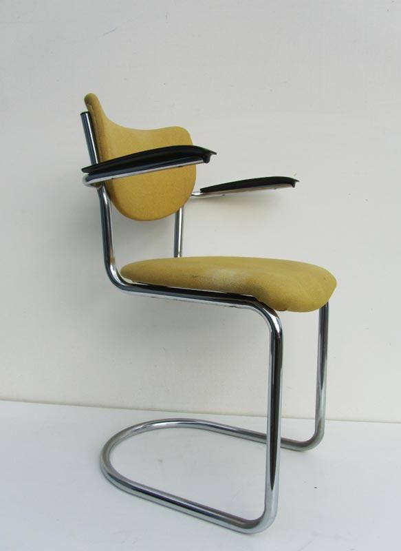 Vintage gispen de wit stoel 3011 bureaustoel for Bureaustoel vintage