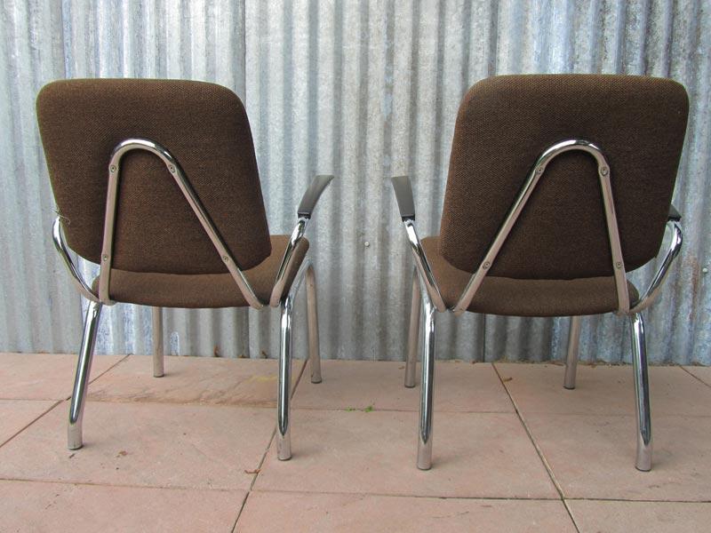 2 Vintage Fauteuils.Set Of Vintage Tubular Gispen Kembo Easychairs Armchairs 1960s