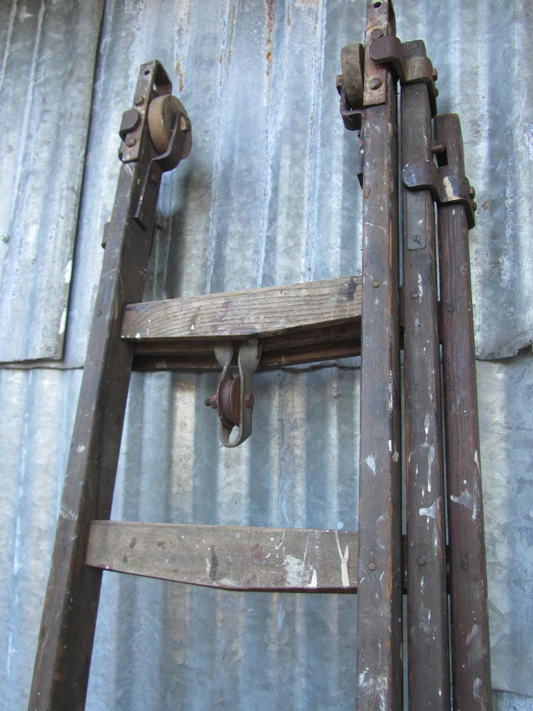Unieke oude industri le ladder vintage brocante ladder decoratieve ladder - Decoratie houten trap ...
