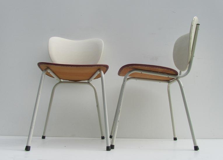 Jaren 50 Stoel : 2 retro vintage jaren 50 skai stoelen