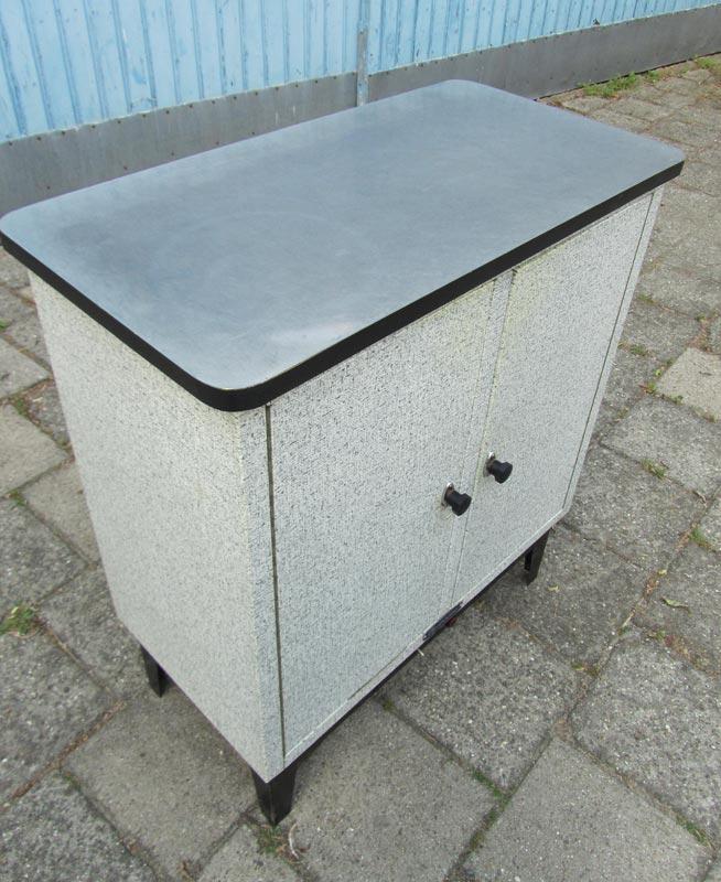 Vintage Keukenkast : vintage-keukenkast-koelkast-wijnkast-zwart-wit-retro-a42g.jpg